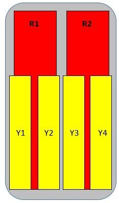 12-Port Antenna - 2L4H / 1.5 m