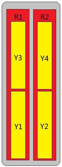 12-Port Antenna - 2L4H / 2.0 m