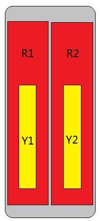 8-Port Antenna - 2L2H / 2.6 m